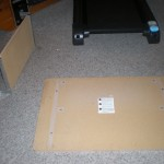took off the slide out part for keyboard, on future treadmill desk
