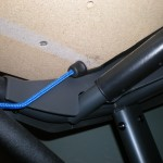 bungee cord view under treadmill workstation